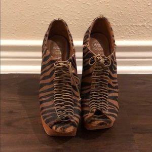 Jeffrey Campbell leopard print heels